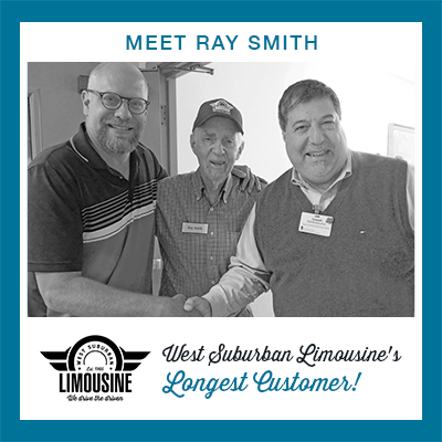 Scott Simkus of West Sub Limo with the company's longest customer, Ray Smith