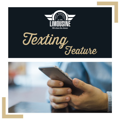 Texting Between Client and Private Car Chauffeur at West Suburban Limousine