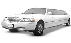 2012 White Lincoln Town Car Stretch